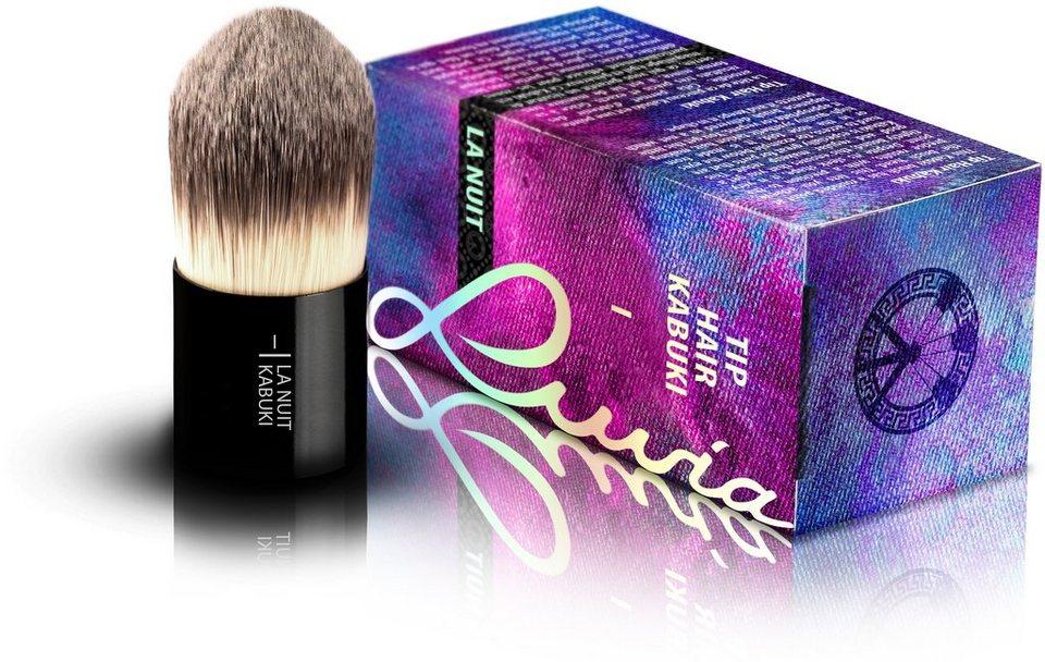 Luvia Cosmetics, »La Nuit - I Tip Hair Kabuki«, Veganer Kabuki Kosmetikpinsel in Schwarz