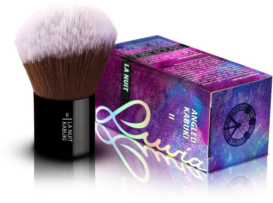 Luvia Cosmetics, »La Nuit - II Angled Hair Kabuki«, Veganer Kabuki Kosmetikpinsel in Schwarz