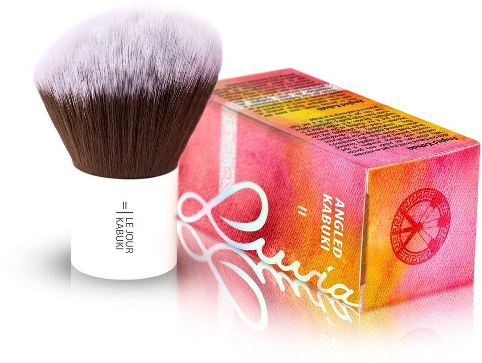 Luvia Cosmetics, »Le Jour - II Angled Hair Kabuki«, Veganer Kabuki Kosmetikpinsel in Weiß