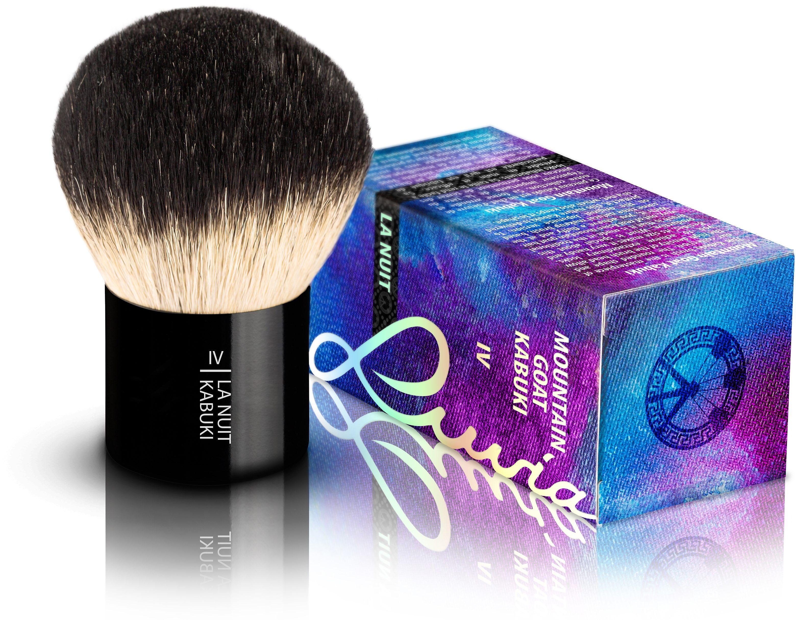 Luvia Cosmetics, »La Nuit - IV Mountain Goat Kabuki«, Naturhaar-Kabuki Kosmetikpinsel