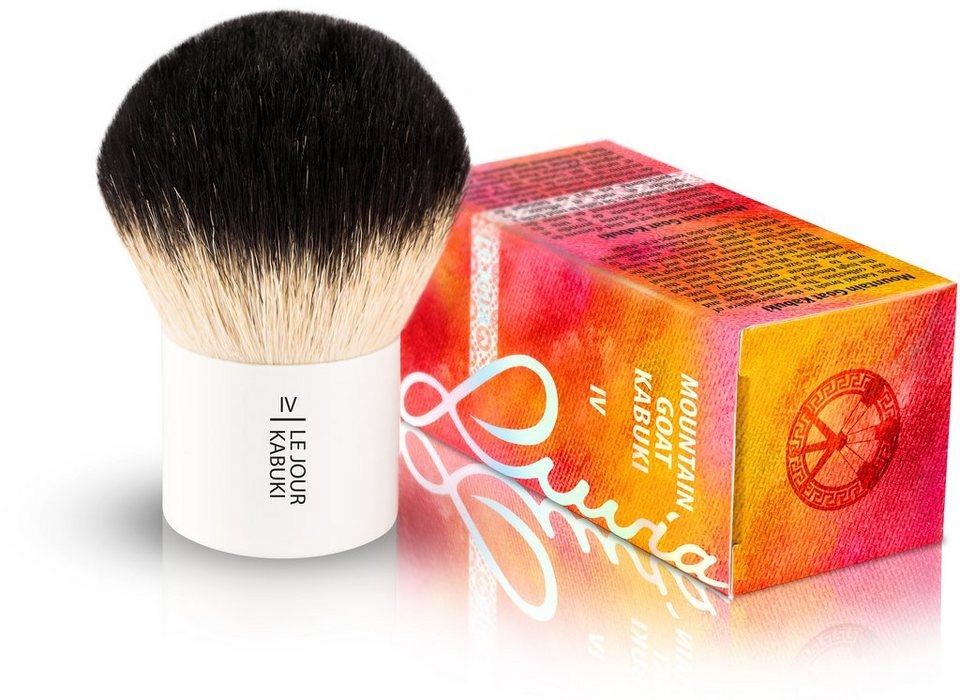 Luvia Cosmetics, »Le Jour - IV Mountain Goat Kabuki«, Naturhaar-Kabuki Kosmetikpinsel in Weiß