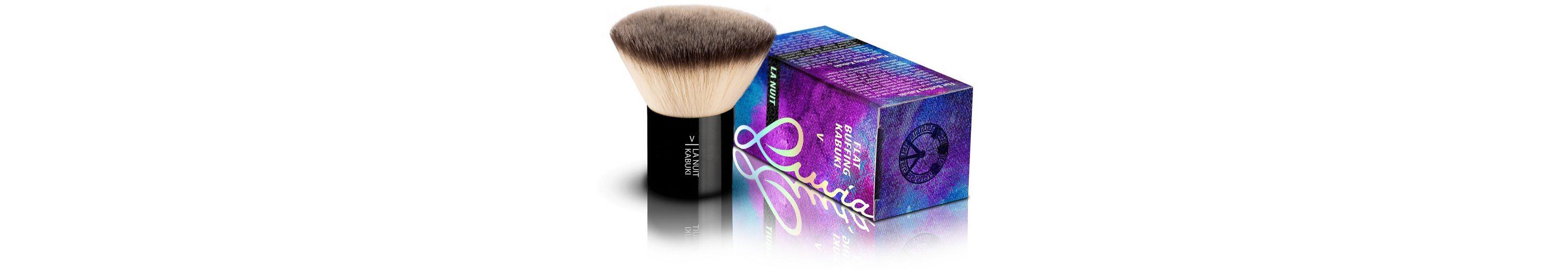 Luvia Cosmetics, »La Nuit - V Flat Buffing Kabuki«, Veganer und dichter Kabuki Kosmetikpinsel