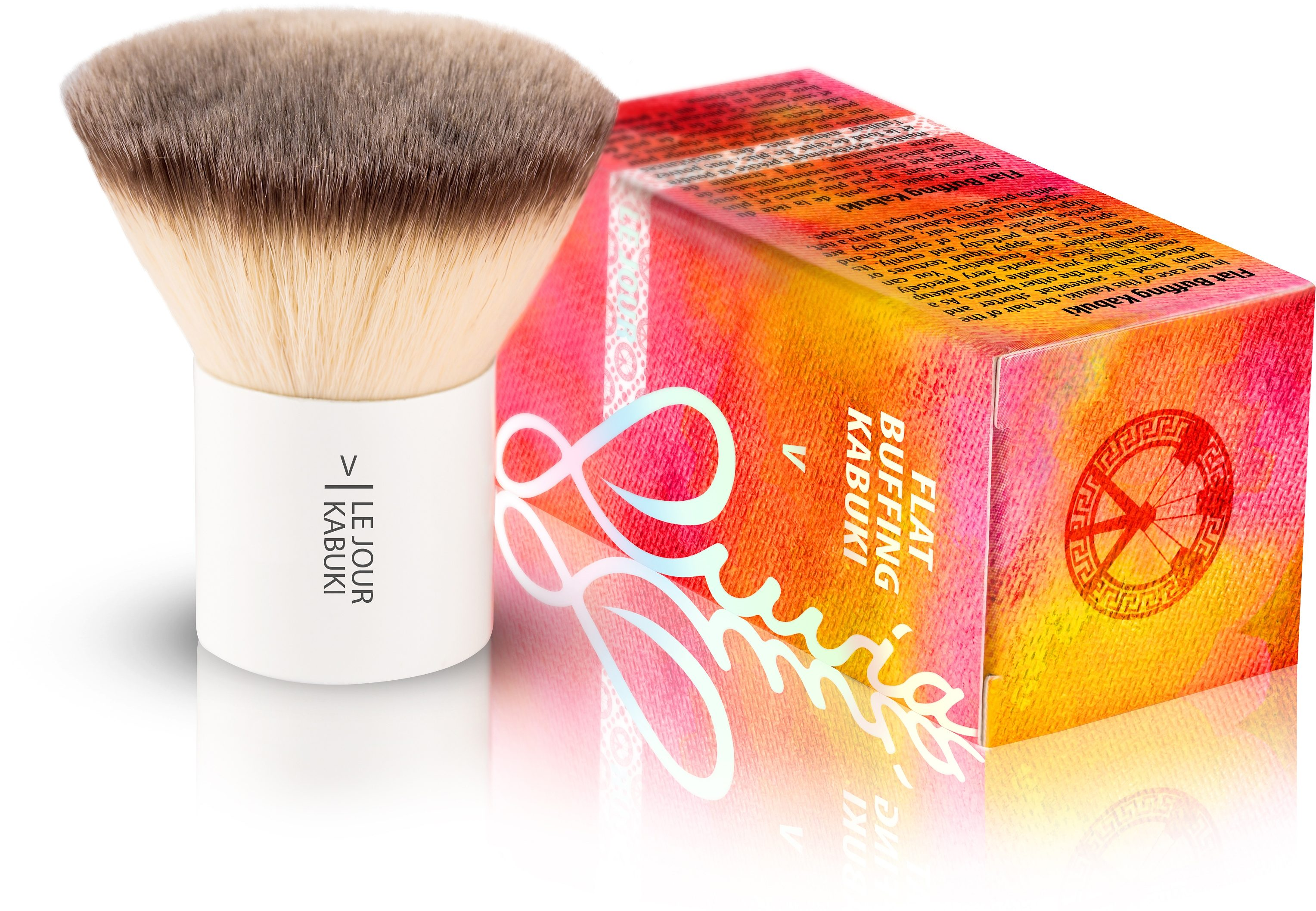 Luvia Cosmetics, »Le Jour - V Flat Buffing Kabuki«, Veganer Kabuki Kosmetikpinsel