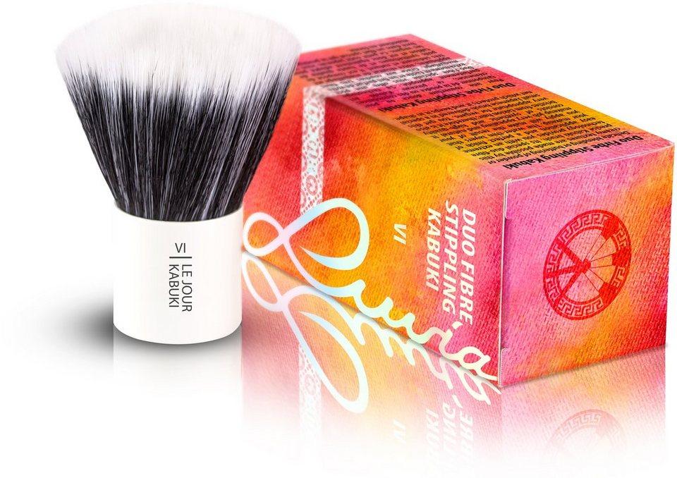 Luvia Cosmetics, »Le Jour - VI Duo Fibre Stippling Kabuki«, Veganer Kabuki Kosmetikpinsel in Weiß