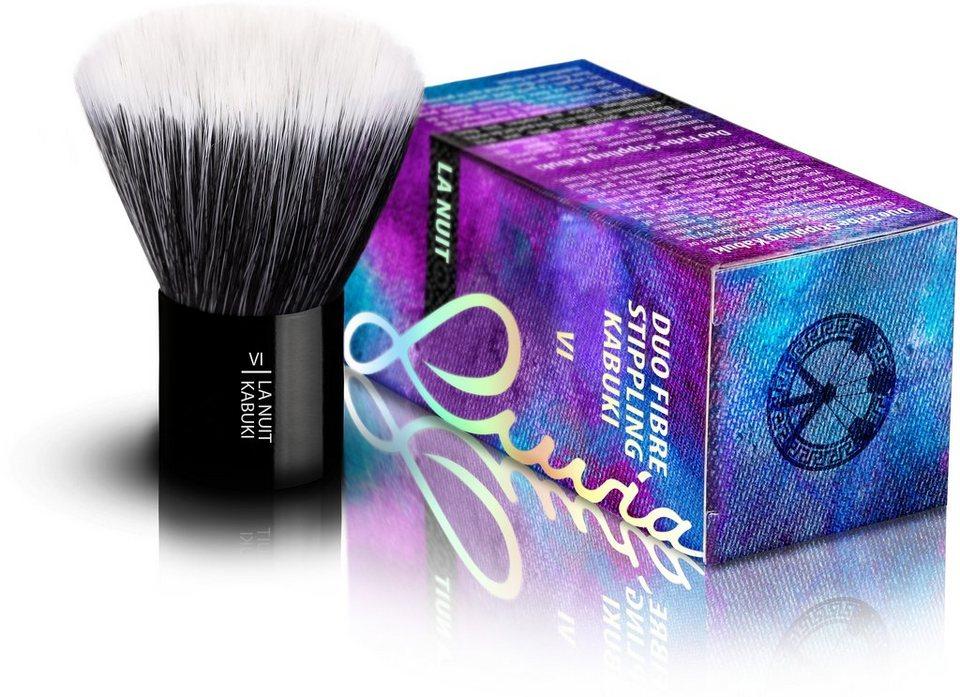 Luvia Cosmetics, »La Nuit-VI Duo Fibre Stippling Kabuki«, Veganer Kabuki Kosmetikpinsel in Schwarz