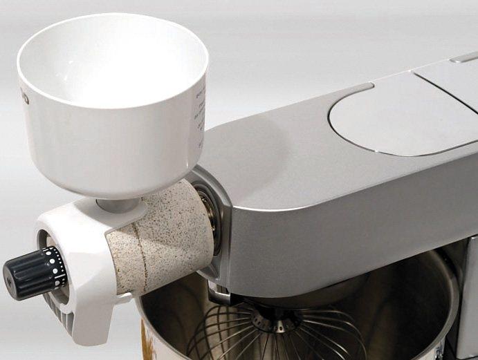 Kenwood Getreidemühle »SM900«, Zubehör Kenwood Cooking Chef und Titanium Küchenmaschinen in Weiß/Grau