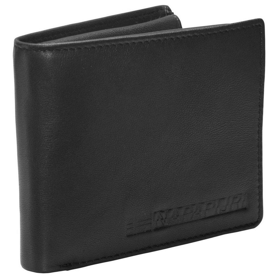 Napapijri Formal Billfold 8 Geldbörse Leder 12,5 cm in black