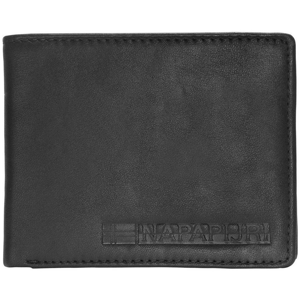 Napapijri Formal Billfold 5 Geldbörse Leder 12,5 cm in black