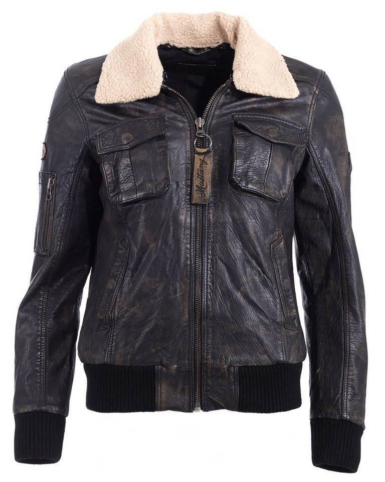 Mustang Lederblouson, Damen »Ringwood« in dark brown