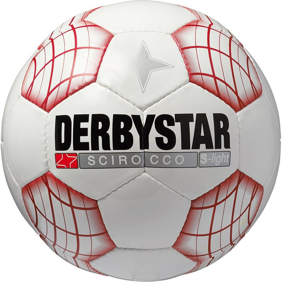 DERBYSTAR Scirocco Super Light Trainingsball in weiß / rot