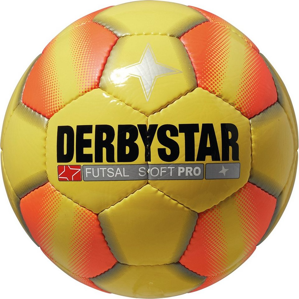DERBYSTAR Futsal Soft Pro Fußball in gelb / orange