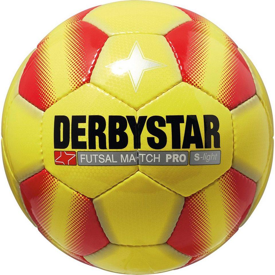 DERBYSTAR Futsal Match Pro S-Light Fußball in gelb / rot