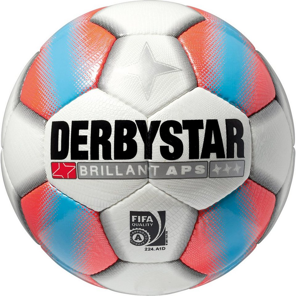 DERBYSTAR Brillant APS Matchball in weiß / orange / blau