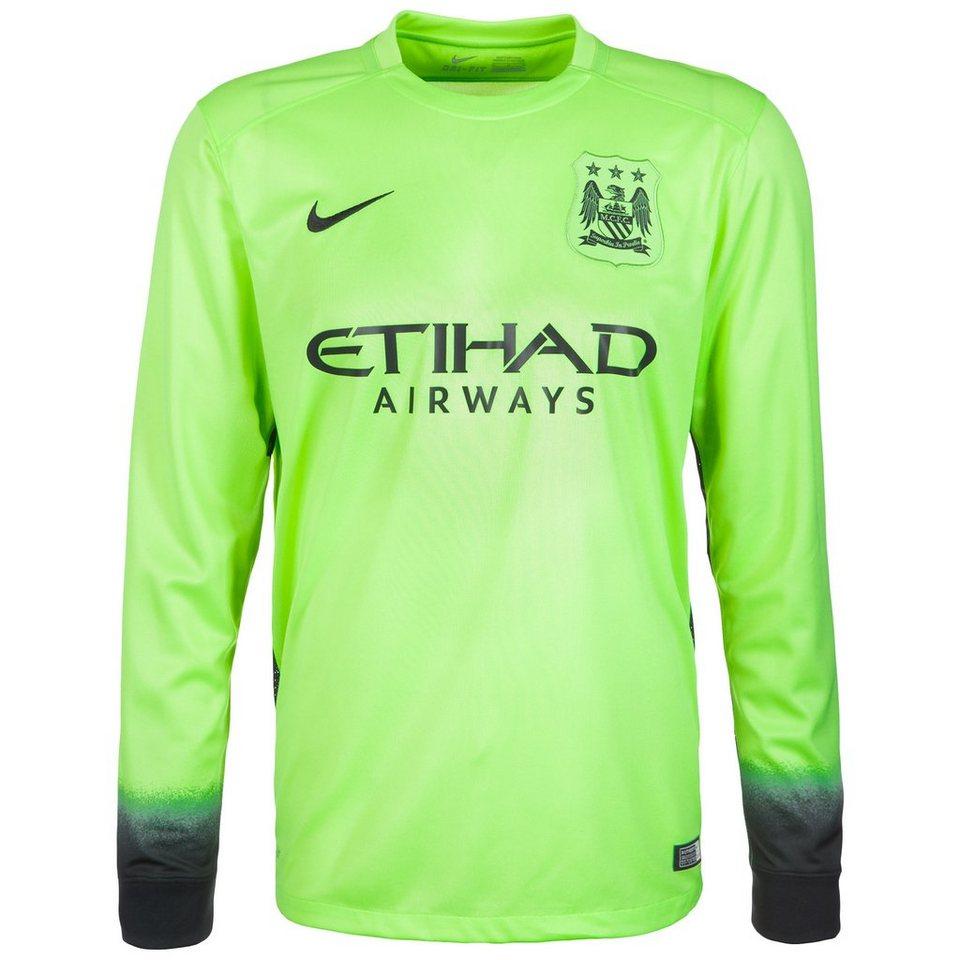 NIKE Manchester City FC Trikot 3rd Stadium 2015/2016 Herren in lime / schwarz