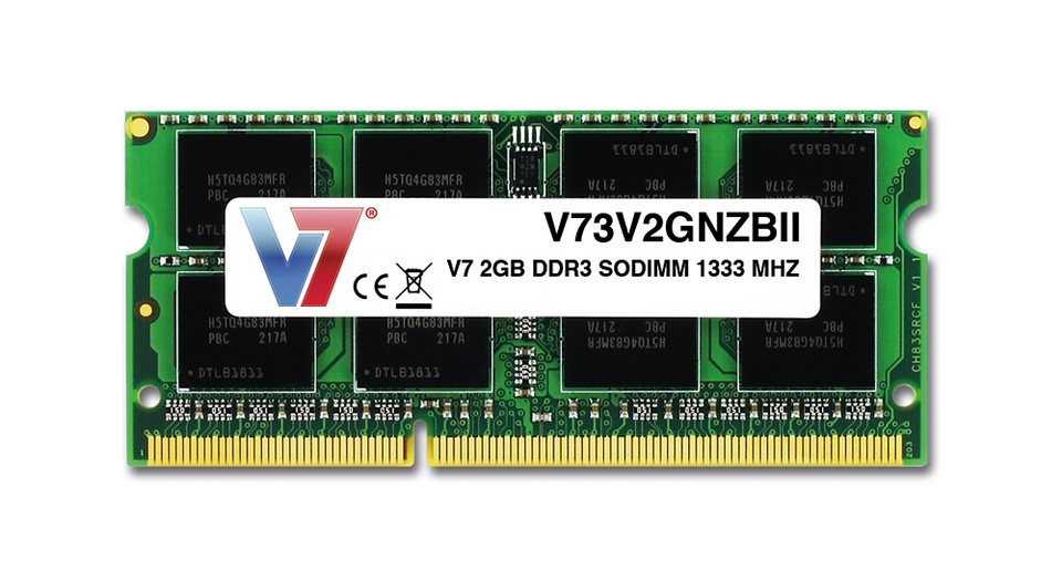 V7 SO-DIMM DDR3 »2GB DDR3 SODIMM 1333MHZ CL9«