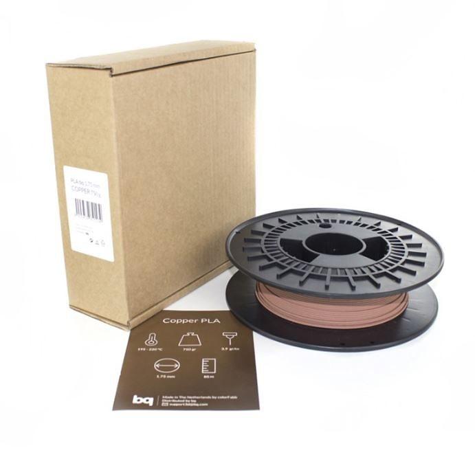bq Metall Filament für 3D Drucker »Copper PLA 1,75mm 750g« in kupfer