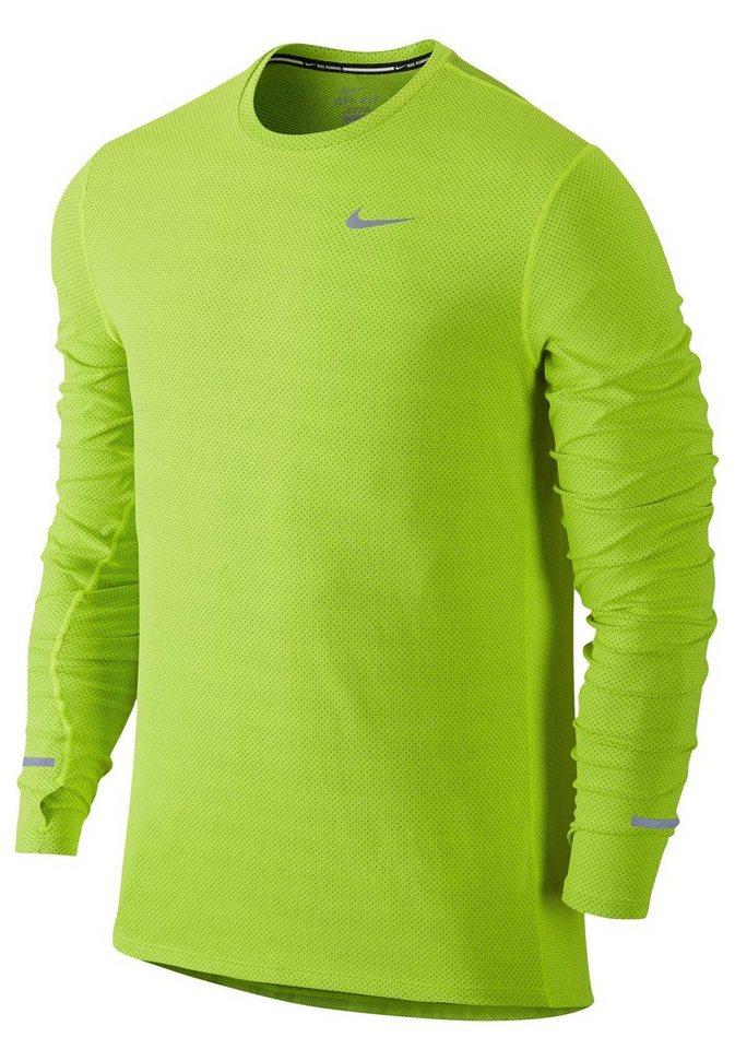 Nike Laufshirt in Neongelb