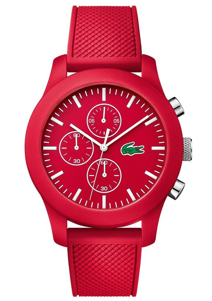 "Lacoste, Chronograph, ""LACOSTE POLOSHIRT IN A WATCH KOLLEK, 2010825"" in rot"
