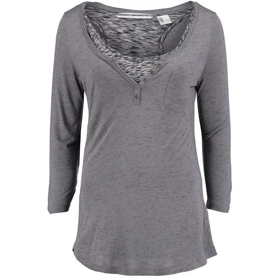 O'Neill T-Shirt langärmlig »Doubled Tee« in Grau meliert