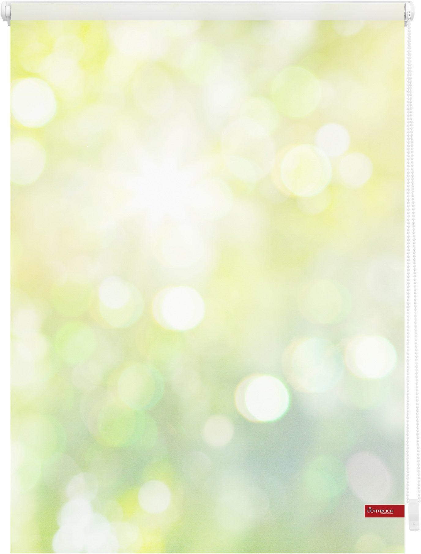 Seitenzugrollo »Klemmfix Motiv Lichtspiel«, LICHTBLICK, Lichtschutz, ohne Bohren, freihängend, bedruckt