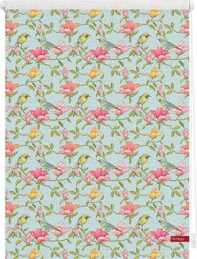 Seitenzugrollo »Klemmfix Motiv Birds«, LICHTBLICK ORIGINAL, Lichtschutz, ohne Bohren, freihängend, bedruckt
