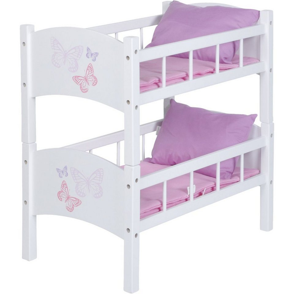 knorrtoys com exklusiv puppenbett schmetterling wei online kaufen otto. Black Bedroom Furniture Sets. Home Design Ideas