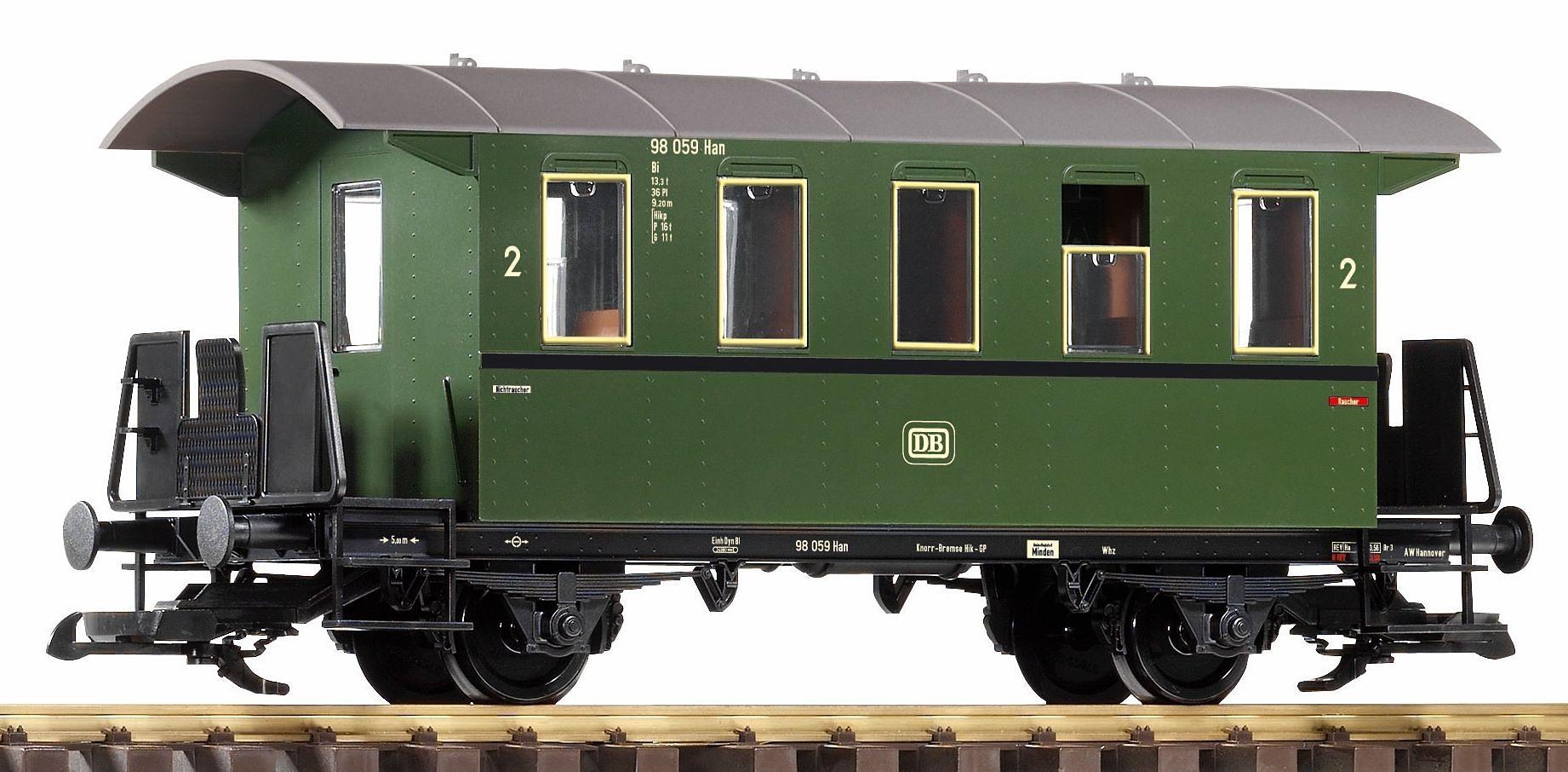 PIKO Personenwagen, Spur G, »Personenwagen 2. Klasse, DB - Gleichstrom«