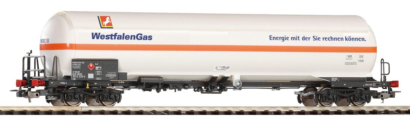 PIKO Güterwagen, Spur H0, »Druckkesselwagen Westfalengas WASCOSA - Gleichstrom« - broschei