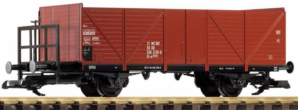PIKO Güterwagen, Spur G, »Offener Güterwagen mit Bremserbühne, DR - Gleichstrom« in braun