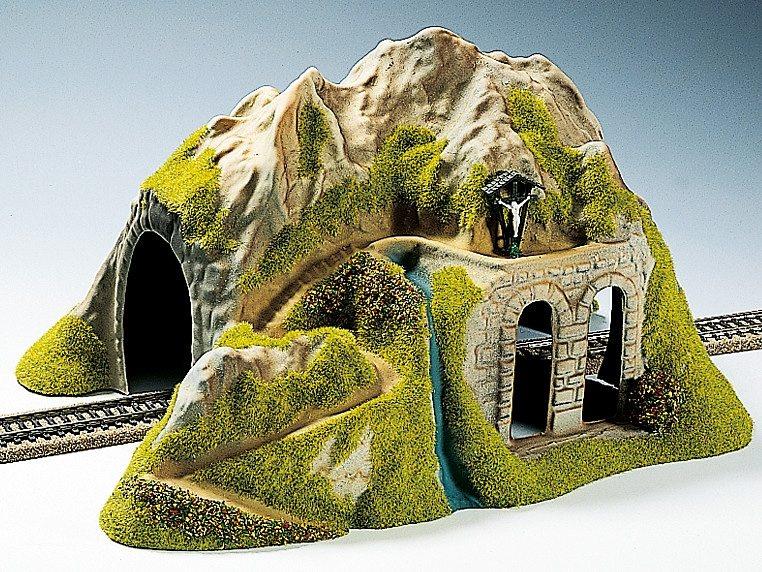 NOCH Modelleisenbahn Zubehör, Spur H0, »Tunnel 1-gleisig, gerade«