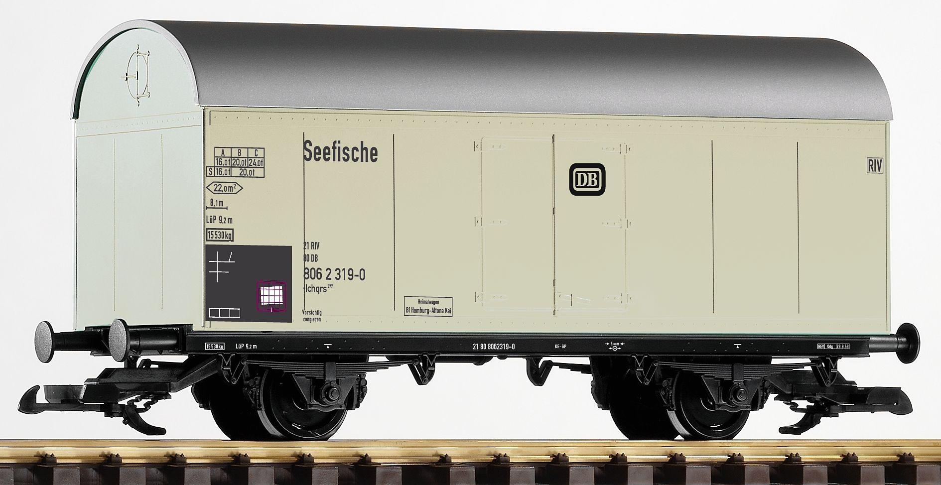 PIKO Güterwagen, Spur G, »Kühlwagen Seefische, DB - Gleichstrom«