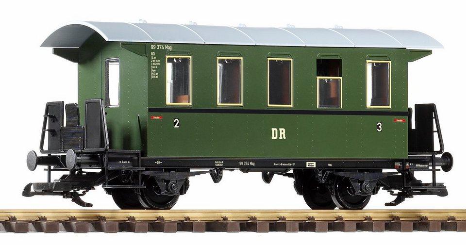 PIKO Personenwagen, Spur G, »Personenwagen 2./3. Klasse, DB - Gleichstrom« in grün