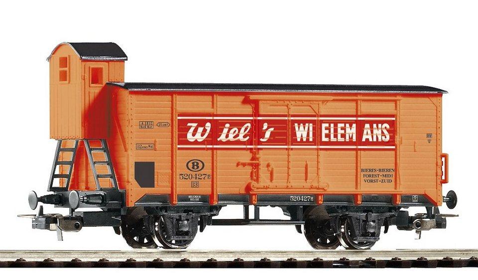 PIKO Güterwagen, »Gedeckter Güterwagen Wiel's mit Bremserhaus, B - Gleichstrom«, Spur H0 in orange