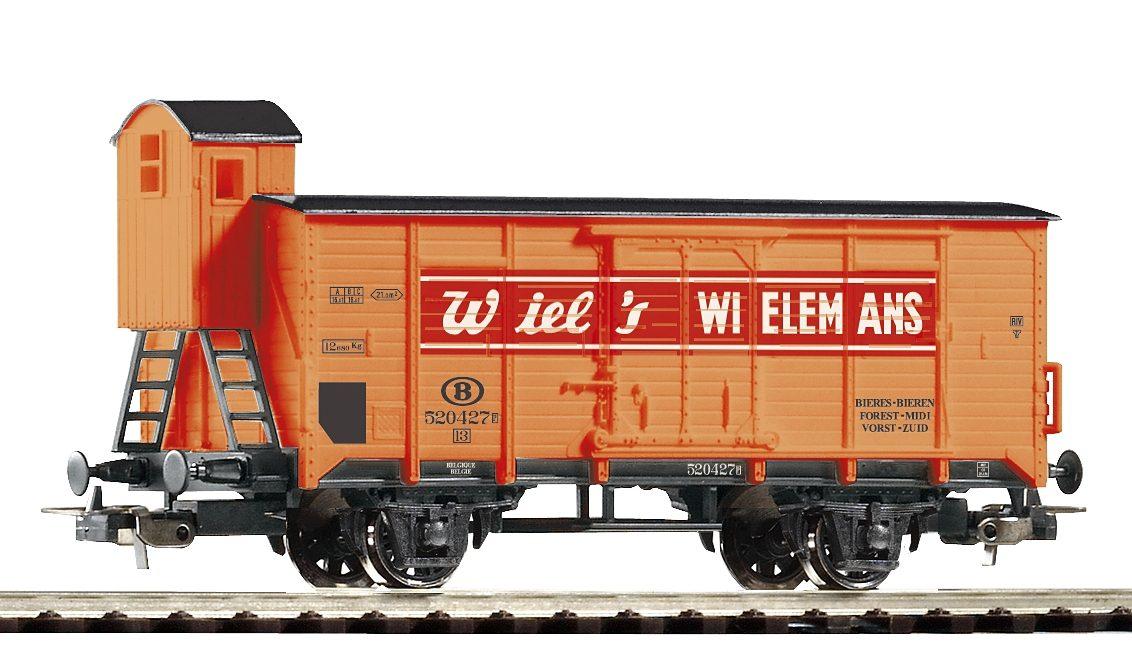 PIKO Güterwagen, »Gedeckter Güterwagen Wiel's mit Bremserhaus, B - Gleichstrom«, Spur H0