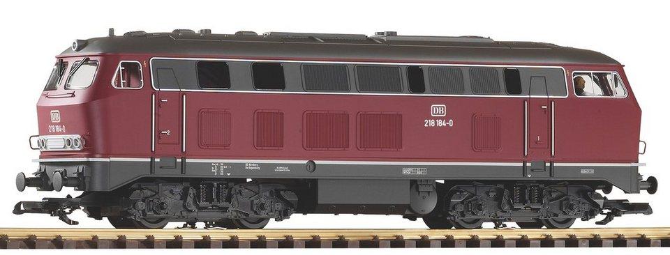PIKO Diesellokomotive, Spur G, »Diesellok BR 218, DB, rot - Gleichstrom« in rot