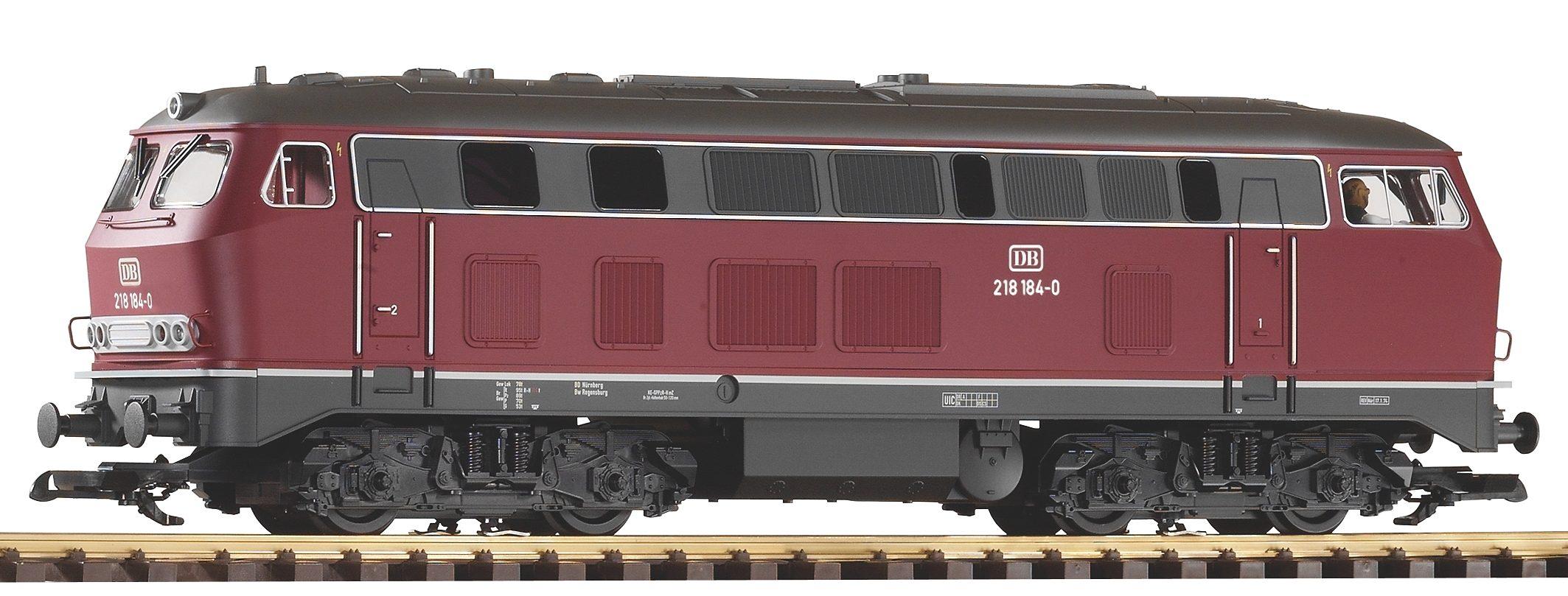 PIKO Diesellokomotive, Spur G, »Diesellok BR 218, DB, rot - Gleichstrom«