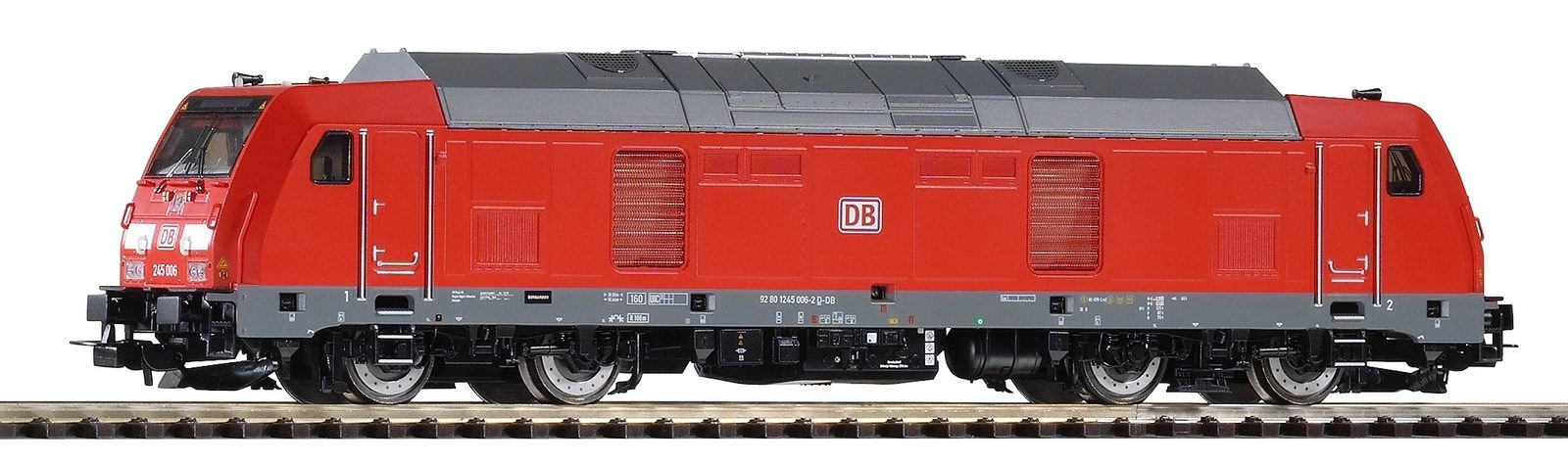 PIKO Diesellokomotive, Spur H0, »Diesellok BR 245, DB AG - Gleichstrom« - broschei
