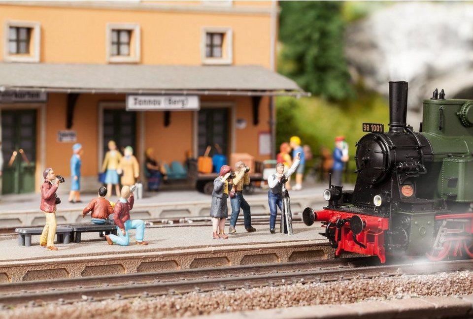 NOCH Modelleisenbahn Zubehör, Spur H0, »Fotografen - beleuchtet mit LED«