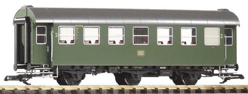 PIKO Personenwagen, Spur G, »Umbauwagen B3yg, 2.Klasse, DB - Gleichstrom« in grün