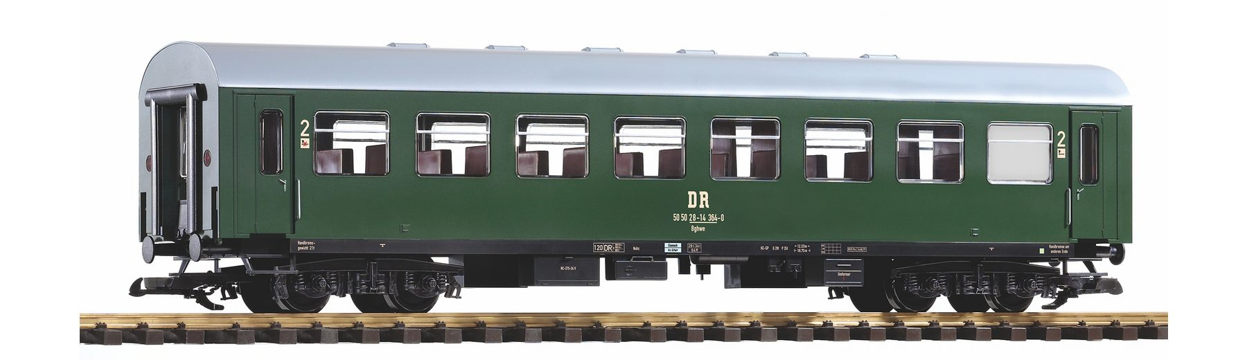PIKO Personenwagen, Spur G, »Reko-Wagen, 2.Klasse, DR, 50 50 28-14 - Gleichstrom«