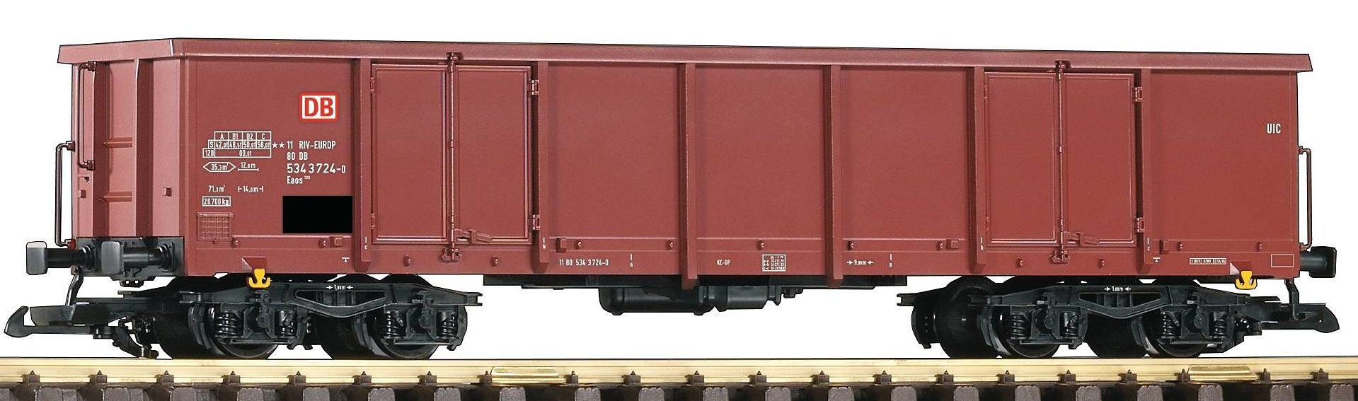 PIKO Güterwagen, Spur G, »Offener Drehgestellwagen Eaos, DB AG - Gleichstrom«