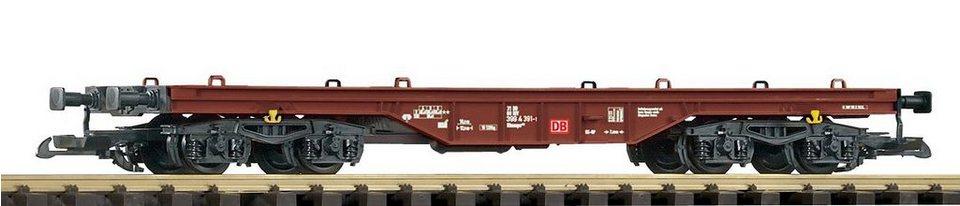 PIKO Güterwagen, Spur G, »Flachwagen - Gleichstrom« in braun