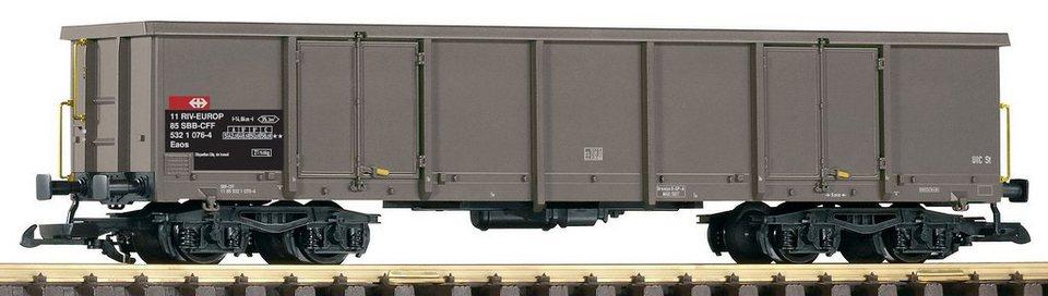 PIKO Güterwagen, Spur G, »Offener Drehgestellwagen Eaos 106, SBB - Gleichstrom« in grau