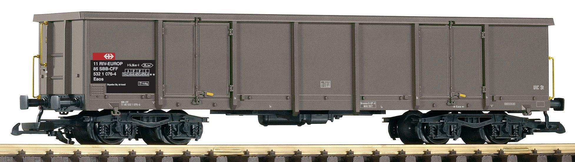 PIKO Güterwagen, Spur G, »Offener Drehgestellwagen Eaos 106, SBB - Gleichstrom«