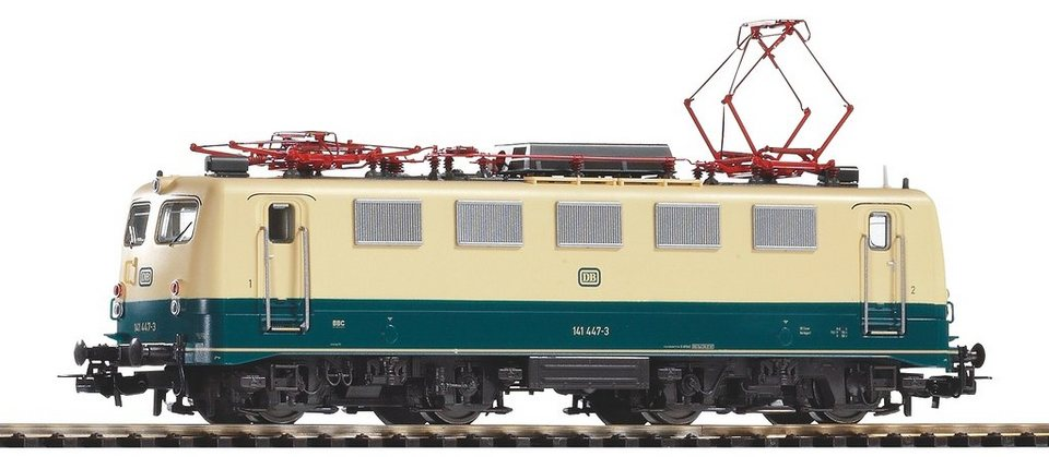 PIKO Elektrolokomotive, Spur H0, »E-Lok BR 141 447-3, DB - Gleichstrom« in beige/grün
