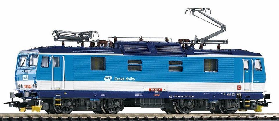 PIKO Elektrolokomotive, Spur H0, »E-Lok BR 371 001-9, CD - Gleichstrom« in blau