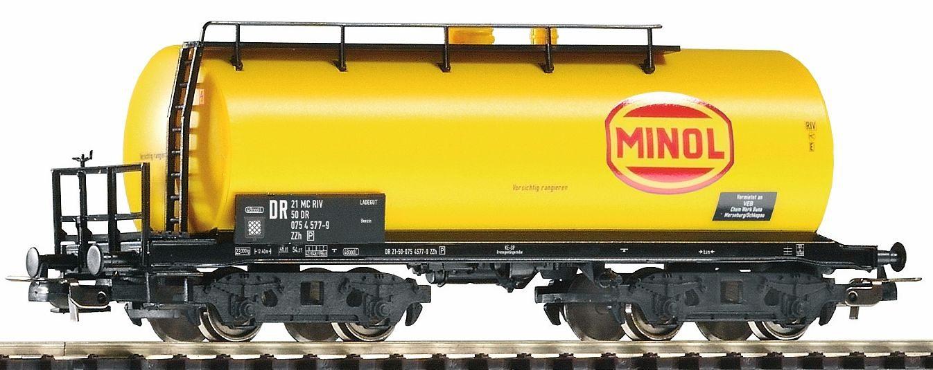 PIKO Güterwagen, Spur H0, »Kesselwagen Minol ohne Bremserhaus, DR - Gleichstrom« - broschei
