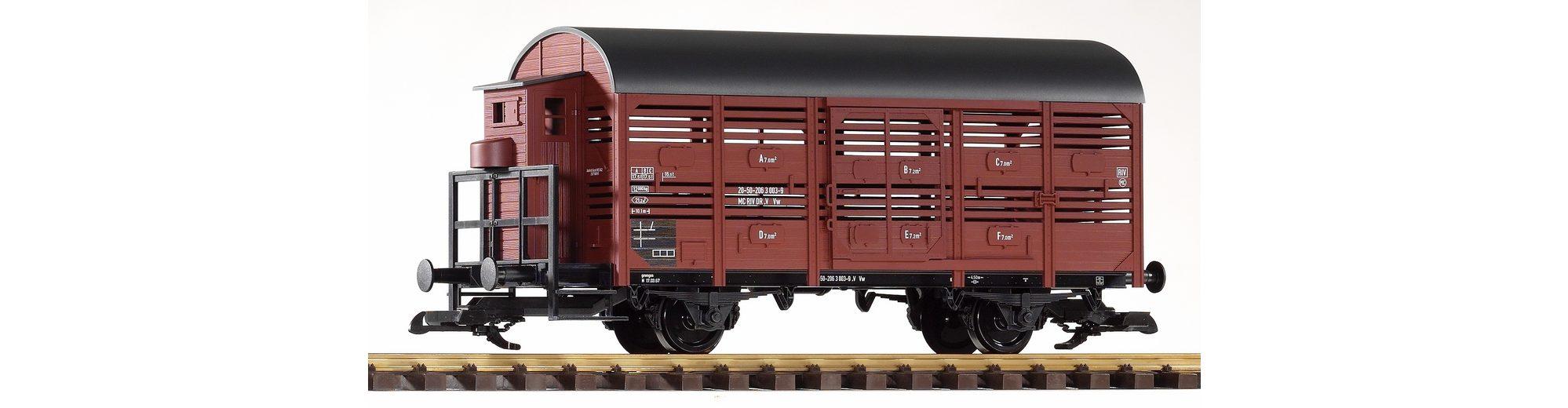 PIKO Güterwagen, Spur G, »Viehtransportwagen mit Bremserhaus, DR - Gleichstrom«