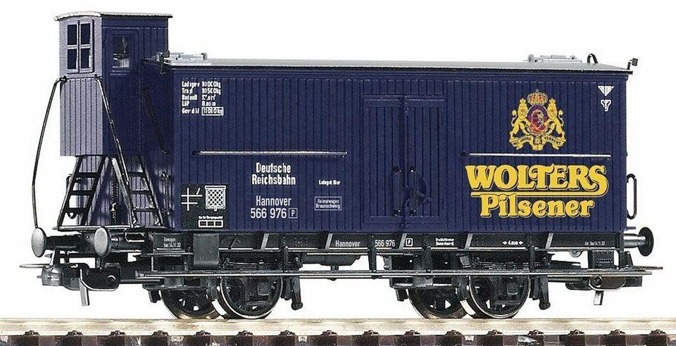 PIKO Güterwagen, Spur H0, »Bierwagen Wolters, DRG - Gleichstrom« in blau
