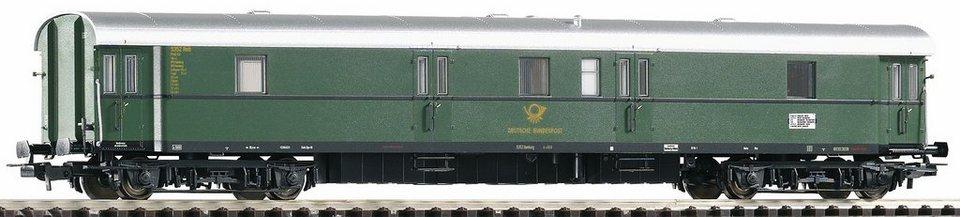 PIKO Güterwagen, Spur H0, »Postwagen Post 4-p/21, DBP - Gleichstrom« in grün